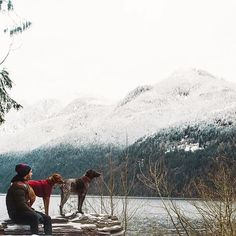 Adventures with furry friends in Golden Ears Provincial Park near Vancouver.    Photo by @ifitwags via Instagram  #exploreBC #exploreCanada