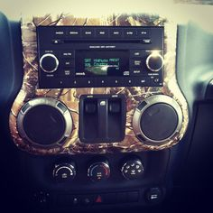 Camo dash! I miss my Wrangler! Oh well gotta big boy comin my way! Thank you Jesus for my 3/4 ton! :)