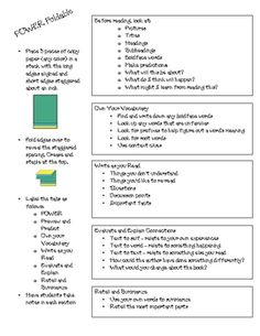 Reading Strategies foldable