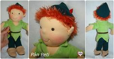 Gledita Peter Pan doll No.3 #gleditadoll #peterpan #peterpandoll Anime Dolls, Waldorf Dolls, Peter Pan, Hungary, Dinosaur Stuffed Animal, Etsy Shop, Cartoon, Toys, Handmade