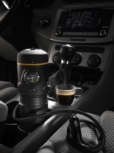For those road trips where a barrista is not within easy SatNav reach, the handpresso from Europe.