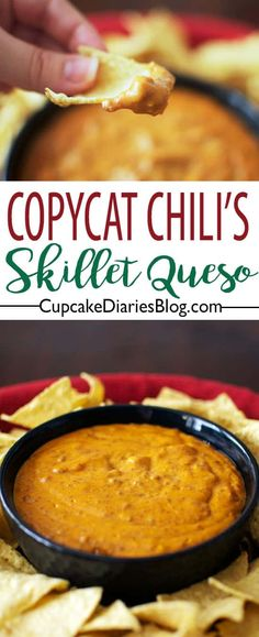 A copycat version of Chili's most popular appetizer is so easy to make at home! You only need a few ingredients to make Copycat Chili's Skillet Queso.