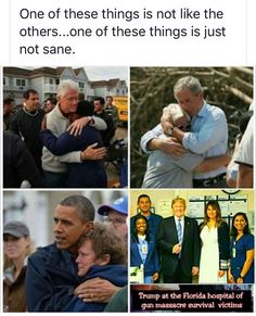 I thought GWB would be the worst president I'd see in my lifetime. Unfortunately I was wrong. He may have made shit decisions, but I don't think anyone can say he did care about people in crisis, when faced with it and not in his bubble. Trump is just heartless and that's the most dangerous thing in a leader.