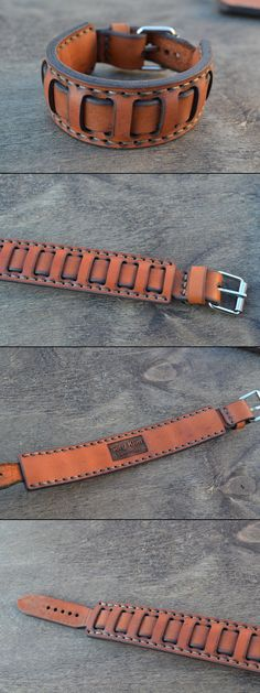 Leather Bracelet-men / Кожаный мужской браслет Would be a cool belt, too