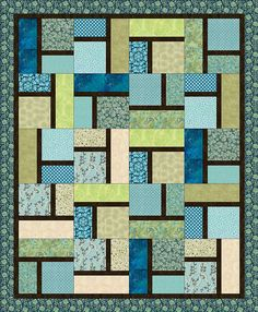 After looking at the directions for Lucy's Quilt (pinned on this board) I like this pattern better & if I add black sashing between the blocks of this quilt pattern I'll come out with a similar look to Lucy's quilt. Pauline by Piecemeal Quilts, via Flickr