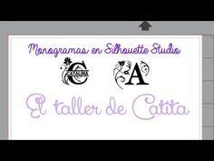 (138) Monogramas en Silhouette Studio v4 - YouTube Silhouette Studio, Youtube, Monogram, Initials, Youtubers, Youtube Movies