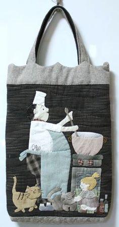 【預購】貝田明美 手提袋材料包/爸爸的厨房之2