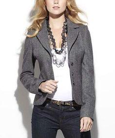Charcoal Kendra Wool Blazer