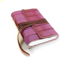 Leather Journal Pink Leather Hand Bound Notebook - Blush