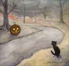 Hey, I found this really awesome Etsy listing at https://www.etsy.com/listing/200521454/on-sale-the-forgotten-path-halloween-art