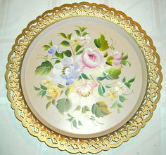 Vintage Nashco Hand Painted Serving Tray Toleware. $24.99, via Etsy.
