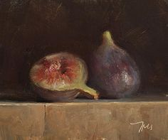 Still life with two figs -   postcard from provence  Julian Merrow-Smith
