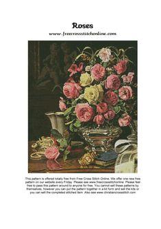 Gallery.ru / Фото #1 - rosesfinal - karatik Cross Stitch Magazines, Kite, Pattern, Painting, Stitching, Punto De Cruz, Flowers, Hipster Stuff, Goblin