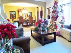 113fbefda22 Decorating For Christmas  Christmas Living Room Tour + Ideas