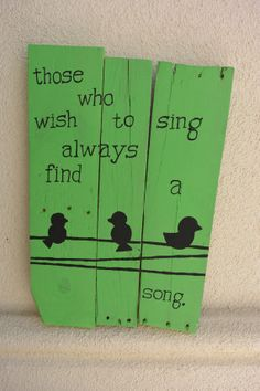 Handmade Distressed Wood Plank Sign Those Who Wish To by sondering, $40.00