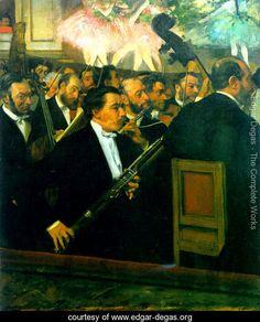 The Orchestra of the Opéra 1870 - Edgar Degas