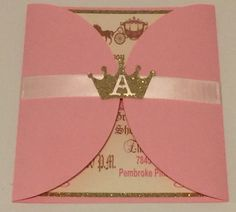 Princess theme Pink & Gold Invitations ( Customizable) by LustrousCreations on Etsy