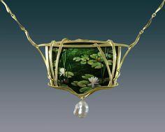 Waterlilies necklace Larissa Podgoretz