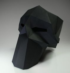 Fancy - Paper Skull Sculpture by D-Sturbed