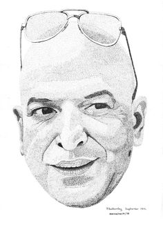 Pen & Ink Drawing, A4 - Telly Savalas by PetesPiccies on Etsy