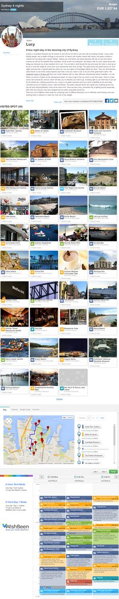 A four night stay in the stunning city of Sydney by Lucy  - WishBeen travel plan