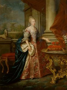 Portrait of Maria Louisa, Grand Duchess of Tuscany. Second half century. Historical Women, Historical Clothing, Female Clothing, Historical Dress, Spanish Netherlands, Maria Theresia, Royal Marriage, Grand Duc, European Dress