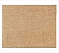 Another rug idea for living room/bonus room...Color-Bound Sisal Rug - Chino #potterybarn