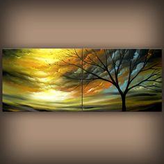 art+painting+ORIGINAL+art+abstract+painting+retro+mid+by+mattsart,+$375.00