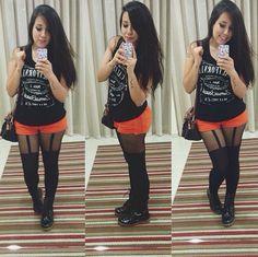 short + meia-calça (Bruna Vieira)