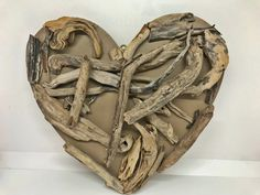 Driftwood heart a great nautical love gift Driftwood Sculpture, Driftwood Art, Great Valentines Day Gifts, Vintage Keys, Key To My Heart, Coastal Art, Handmade Items, Handmade Gifts, Love Gifts