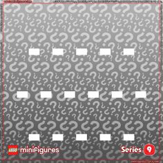 LEGO Minifigures Series 9 Background for Ikea Ribba Frame