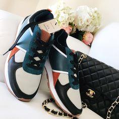 Zara Shoes - Zara multicolored leather sneakers