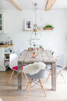 Attraktiv Esszimmerideen, Einrichten Mit Eameschairs, Pomponetti #diningroom # Eameschair #eamescushion Landhaus Dekoration,