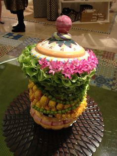 Cookie Jar Centerpiece  MacKenzie-Childs  Neiman Marcus Beverly Hills