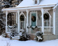 Aiken House & Gardens ~ the Boathouse in winter