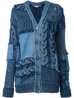 Shop Stella McCartney Patch detail oversized cardigan.