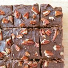 Double Chocolate Cheesecake Brownies: gluten free, dairy free, sugar free
