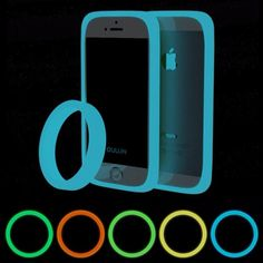 73a3b4857f8 Brand New 5 Color Fashion Universal Round Ring Fluorescent Luminous Phone  Bumper Case Protector Silicone Bracelet For iphone