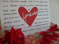 change the words to personalize. Use different fonts to create a one of a kind card or something you can frame <3