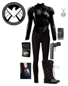 """Agent Of S.H.I.E.L.D."" by gone-girl ❤ liked on Polyvore featuring Mother, Marvel Comics, women's clothing, women's fashion, women, female, woman, misses and juniors"