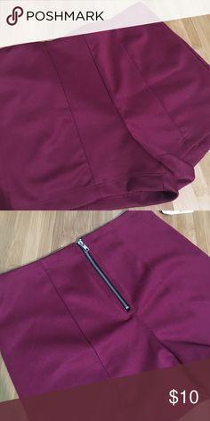 Disco shorts Maroon disco shorts • NWT Forever 21 Shorts