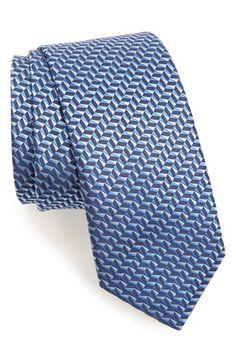 Men's Lanvin Woven Silk Tie - Blue