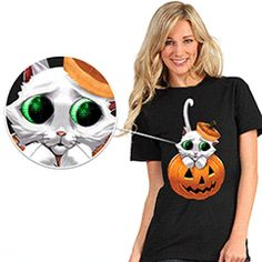 DIgital Dudz - Phone app makes the eyes move!  Adorable Kitty Eyes Shirt - other grotesque styles available.