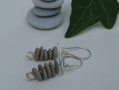 pebble stone cairn earrings with sterling silver finishes Handmade Jewelry, Unique Jewelry, Handmade Gifts, Stone Cairns, Pebble Stone, Stone Jewelry, Sterling Silver Earrings, Stud Earrings, Pendant Necklace
