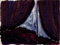 Untitled (Tent Door at Night) :: Drawings, Paintings & Sculpture
