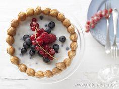 Beerencharlotte mit Joghurt-Quark-Creme  - smarter - Kalorien: 193 Kcal   Zeit: 525 min.