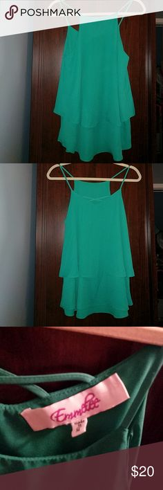 Francesca's Collections Green Tank Top NWOT Cute summer tank to be paired with capris!  18' from armpit to armpit 100% Polyester Francesca's Collections Tops Tank Tops