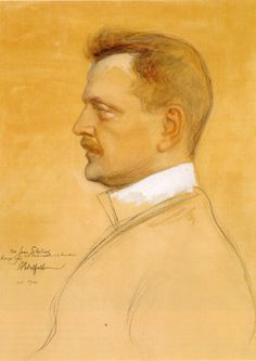 Albert Edelfelt: Sibelius, 1904. Its A Mans World, Impressionist Paintings, Male Form, Country Of Origin, Finland, 19th Century, Roots, Scandinavian, Nostalgia