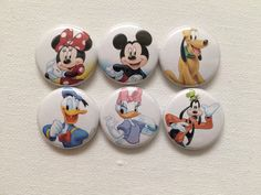 1 inch Mickey Mouse clubhouse pin back buttons by JCDC00 on Etsy