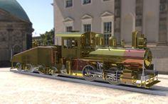 Dessin Solidwork de la locomotive modèle Pennsylvania A3 switcher réalisé selon les plans de M. Kozo Hiraoka.